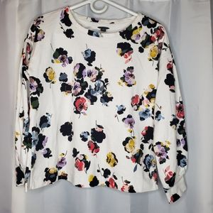 Ann Taylor lightweight crew neck floral sweater